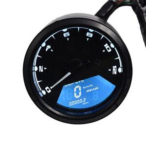 Universal Motorcycle Dirtbike 12000RPM LCD Odometer Speedometer Tachometer Gauge