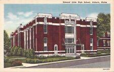 Postcard Edward Little High School Auburn Maine