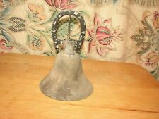 Vintage Cast Iron Horse Shoe Wall Mounted Dinner Bell School Bell Welcome Bell