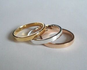 2.50 MM. 14 K. SOLID Gold TRADITIONAL BAND OR STACKING RING HANDMADE IN U.S.
