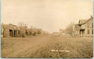 DERBY, Kansas RPPC Real Photo Postcard MAIN STREET Downtown Scene 1910 Cancel