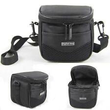 Schwarz Kamera Tasche Umhängetasche Fototasche Kameratasche für DSLR SLR Kamera