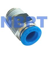 """3/8 Push to  Connect One Touch Fittings 3/8"""" OD-1/4"""" NPT, 5 pcs"""