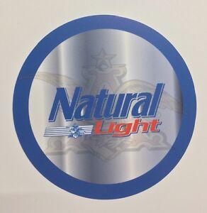 "Natural Light Beer 7"" Round Metal Sign"