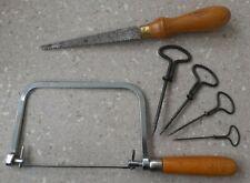 Marples Pad Saw Marples Shamrock Coping Saw and four wire gimlets