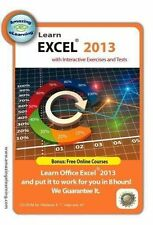 Learn Microsoft Excel 2013    Interactive Training Course  Brand New Sealed