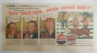 Pepsi-Cola Ad: The Haleys of Broadway and Hollywood 1940's Size 7.5 x 15 inches