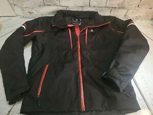 Mens Volkl Zipdown Winter Sport Ski Jacket Size XL Black Red