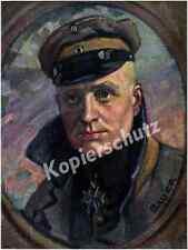 Karl Bauer Farb-Porträt Richthofen Orden Pour le Mérite Jasta 11 Luftwaffe 1917!