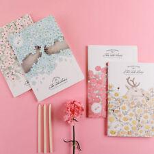1pc Flower Print Notebook Sketchbook Cute Blank Paper Diary Journal Notepad Memo