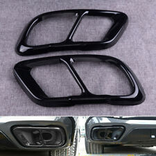 2pcs Black Rear Exhaust Muffler Tip End Pipe Cover Trim Fit For BMW X5 G05 X7