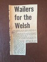 H1j Ephemera 1976 Music Article Bob Marley For Cardiff Rock Festival