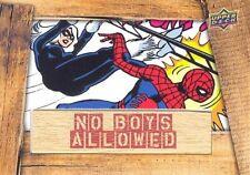 2016 Upper Deck Marvel Gems No Boys Allowed NBA-3 Black Cat Vs. Spider-Man RARE!