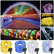 Tube String Lights Rope Outdoor Led Solar Lamps Waterproof Lighting Garden Decor