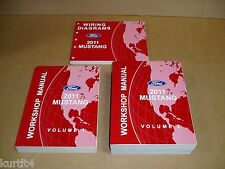2011 Ford Mustang GT Shelby GT500 service shop dealer repair wiring manual