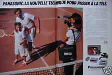 PUBLICITÉ 1981 PANASONIC MAGNÉTOSCOPE VHS NV 3000 - TENNIS - ADVERTISING