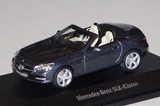 Mercedes SLK R172 dunkelblau metallic 1:43 Mercedes B66960510 neu & OVP