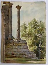 Henri Charousset. Le Temple de Diane à Vernègues. Bouches du Rhone