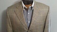 Jack Victor Silk Wool Blend 3 Button Blazer Houndstooth Jacket Coat Sz 42S