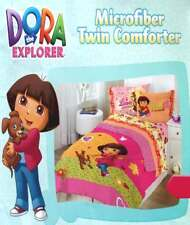 DORA THE EXPLORER AND PUPPY PINK TWIN COMFORTER SHEETS 4PC BEDDING SET NEW