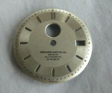 RECORD WATCH CO GENEVE AUTOMATIC DIAL WRISTWATCH - 25MM DIAMETER