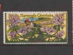 German Poster Stamp Sprengels Chocolate Artist HOFER