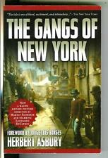 THE GANGS OF NEW YORK by Asbury, Thundermouth true crime film trade pb