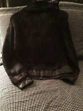 Tryst New York leather and fur jacket