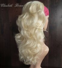 Beautiful Layers Light Blonde Med Long Curly 3/4 Wig Hairpiece Half Wig 088