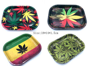 1Pcs Rolling Trays Size 180*140*15mm Metal Tray Handor for Smoking Accessory