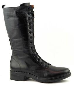 PX Flex Schuh Salvia 42220120 black schwarz Damen Echtleder Schnürstiefel