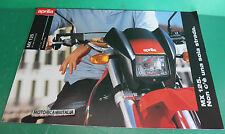 APRILIA MX125 moto motard PUBBLICITA brochure DEPLIANT PIEGHEVOLE CATOLOGUE