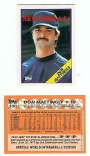 1988 TOPPS #300 DON MATTINGLY PROMOTIONAL CARD (THAT WAS RECALLED BY DON )