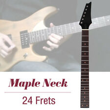 Electric Guitar Neck 24 Fret Square Heel Rosewood Fretboard Smooth Finish