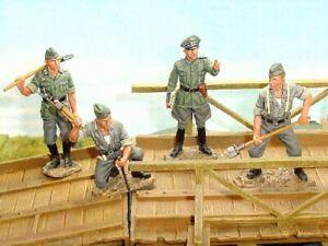 King & Country WS045 German Engineer Officer & 3 men Pontonniers Génie WWII
