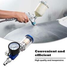"1/4"" Air Spray Paint Gun Kit Regulator Gauge & In-line Air Oil Water Separator"