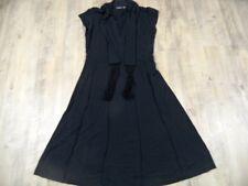 MEXX schönes Jerseykleid schwarz m. Schal Gr. M TOP BB917