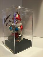 """Designers Studio - Fireman Santa - Hand Crafted Glass  with Case 6"""" Tall"""
