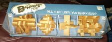 Bamboo Wooden Puzzles, Set of 4