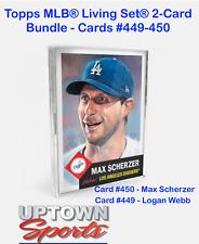 Topps MLB Living Set 2-Card Bundle Cards #449-450 - Logan Webb - Max Scherzer
