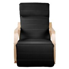 Sofa Armchair Rocking Chair Birch Black Cover Rock Seat Relax Adjustable NEW