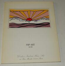 Catalogue Exposition POP-ART 61-95 Didier IMBERT 1986 - WARHOL - LICHTENSTEIN...