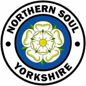 2 x Yorkshire Northern Soul Car / Scooter Stickers soul funk mod 014