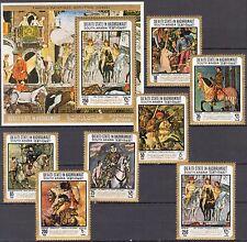 ADEN / Hadhramaut 1967 Art Paintings 7 + S/S MNH** Mi.:157/63 Bl.19 22,00 Eur