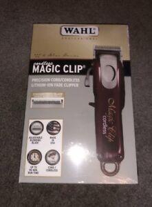 Wahl Magic Clip Cordless Clipper Premium Attachments New Boxed