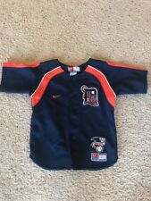 EUC NIKE Detroit Tigers Baseball Youth Jersey Shirt Boys Navy Blue..size 4