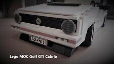 LEGO CREATOR MOC VW GOLF GTI MK1 Cabrio Bauanleitung ,Auto,Car,weiss