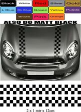 MINI ONE MINI COOPER BONNET STRIPES VINYL GRAPHICS DECALS STICKERS RACING