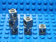 LEGO LEGOS  -  Set of 6 NEW  1x1 Technic Bricks with Hole LIGHT GRAY