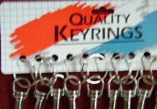 4 CLIP ON KEY RINGS TRIGGER HOOK METAL KEY RING large
